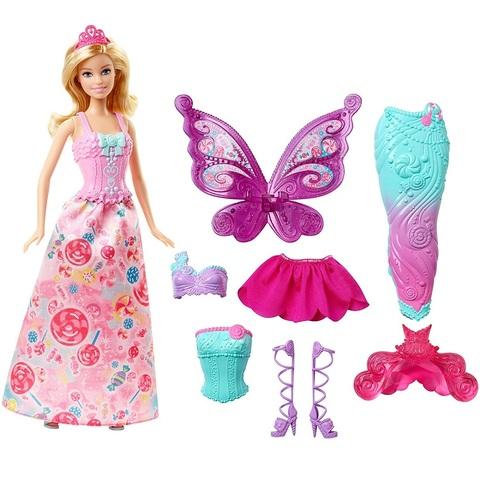Барби Дримтопия Принцесса, Русалка и Фея