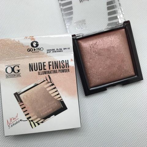 OG-KY5303Y Пудра-хайлайтер 04 nude glow, NUDE FINISH ILLUMINATE POWDER