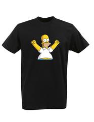 Футболка с принтом мультфильма Симпсоны (The Simpsons) черная 008