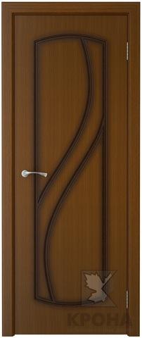 Дверь Крона Венера, цвет орех, глухая