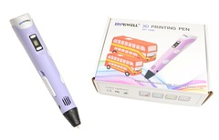 Набор 3D ручка MyRiwell RP-100B версия 2 оригинал с пластиком, напальчники 2шт и Трафаретами