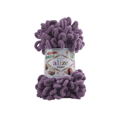 Купить Пряжа Alize Puffy Код цвета 437 Фиолетово-сиреневый | Интернет-магазин пряжи «Пряха»