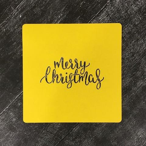 Трафарет новогодний №22 Merry Christmas/Счастливого Рождества