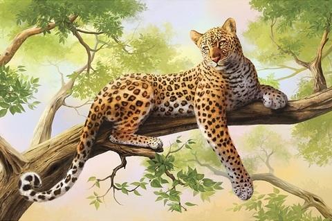 Алмазная Мозаика 30x40 Тигрица отдыхает на дереве (арт. S3252)