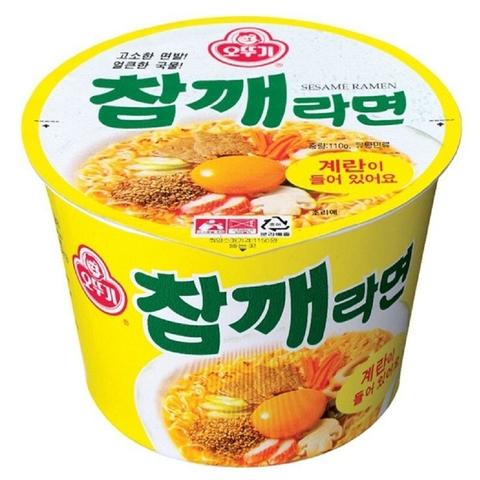Лапша OTTOGI со вкусом кунжута Sesame ramen bowl 110 гр