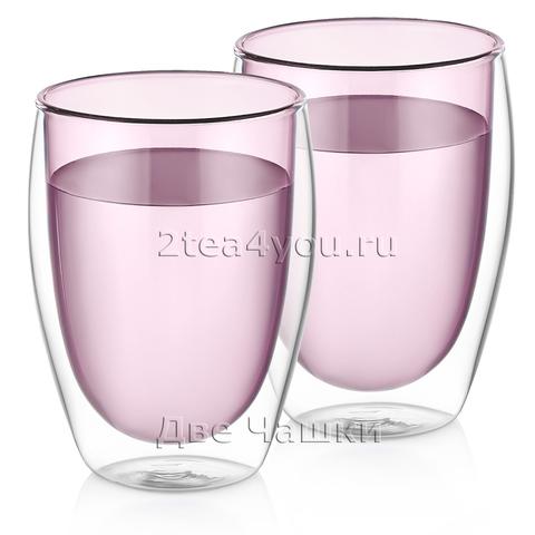 Стаканы с двойн. стенками 350мл - 2шт. Розовый