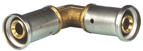 Henco угол пресс 16х16 мм равнопроходной для металлопластиковых труб (1P-1616)