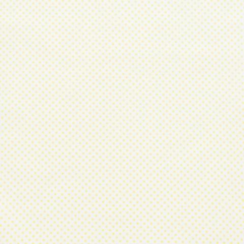 Ткань хлопковая желтый горошек 3 мм на белом. Отрез 50*80 см