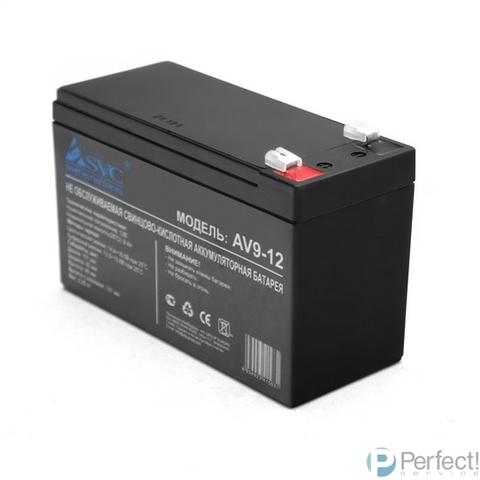 SVC Батарея AV9-12 (12В/9Ач) AGM, Клемма T2(F2)