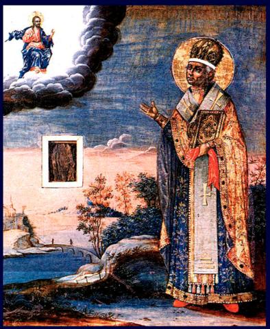 Икона святитель Никита Новгородский на дереве на левкасе мастерская Иконный Дом