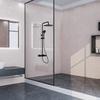 Смеситель для ванны с изливом и душевым комплектом TZAR 340501BTNM черный - фото №2