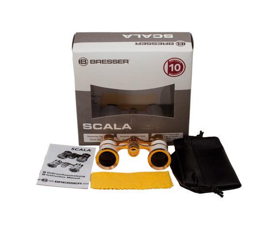 Комплект поставки театрального бинокля Bresser Scala 3x25 MPG