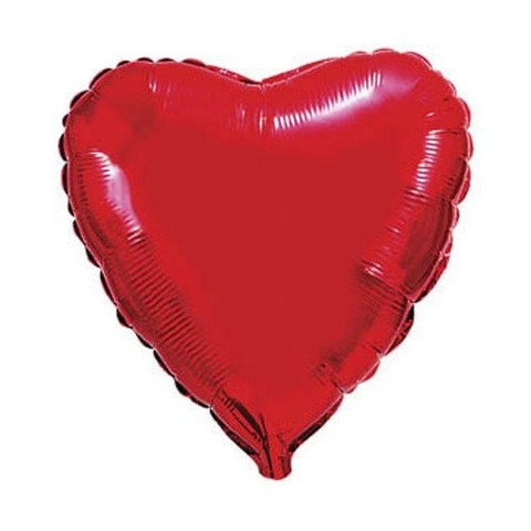 Сердце Металлик Красный (46 см)