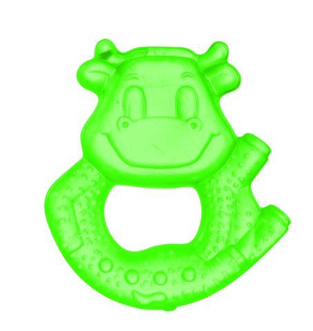 Canpol babies. Прорезыватель водный охлаждающий Улыбка, 0+, коровка, зеленый
