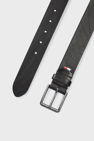 Мужской черный кожаный ремень CASUAL ESS ROLLER BELT 3.5 Tommy Hilfiger