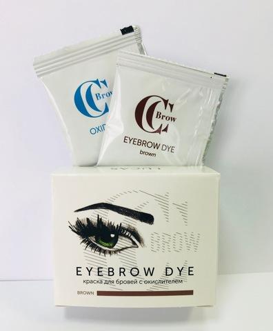 Краска для бровей CC Brow (1 саше с гель-краской, 1 саше с окислителем), (коричневый)