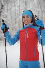 Женская утепленная лыжная куртка Nordski Premium 2020 Red-Blue