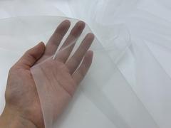Сетка с эффектом голого тела, белая (метражом)