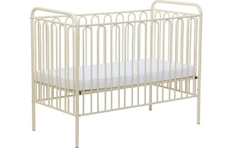Кроватка детская Polini kids Vintage 150 металлическая, кремовый