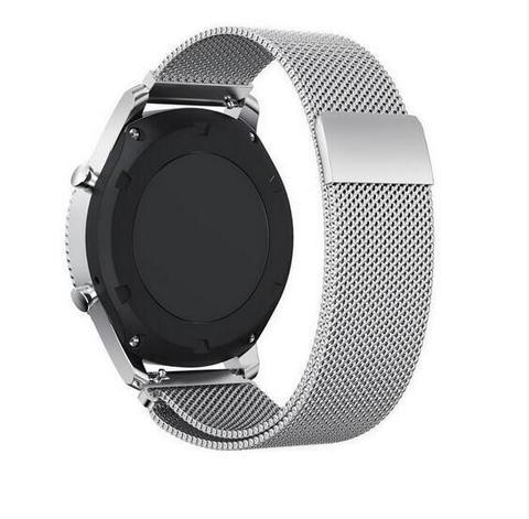 Ремешок Fohuas для часов Samsung Galaxy Watch Active 2 Миланская петля (серебристый) 20мм