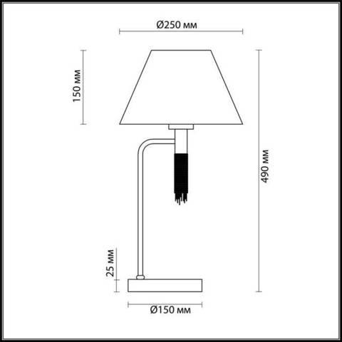 Настольная лампа 4514/1T серии VANESSA