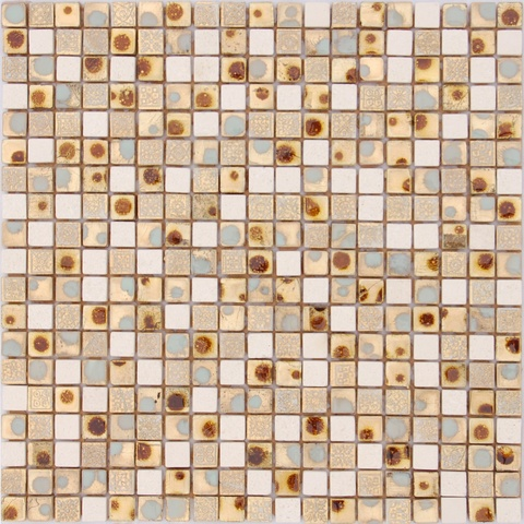 Мозаика каменная со стеклянными вставками Classica10 300х300