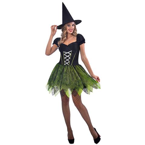 Костюм женский HWN Ведьма зеленый