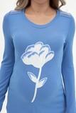 Туника для беременных 09165 голубой