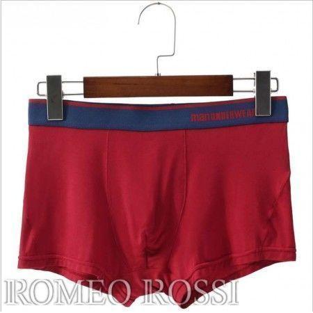 Мужские трусы боксеры красные Romeo Rossi RR6019-8