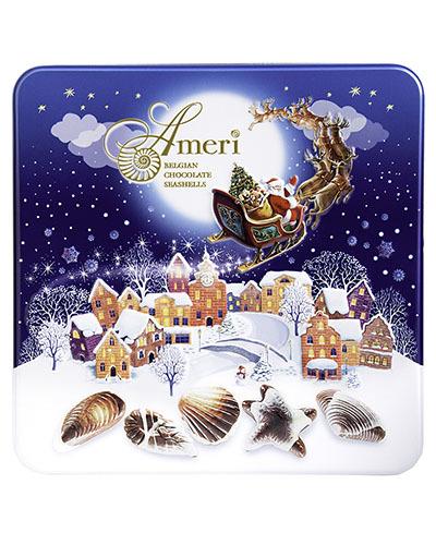 Конфеты Ameri с Пралине в Новогодней Жестяной Коробке 500гр