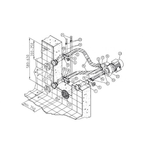 Гидромассаж Fitstar Combi-Whirl 8615020 (220/380 В, 2.6 Квт) компл: насос, 2 форсунки / 25213