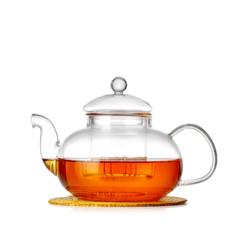 """Стеклянный заварочный чайник со стеклянной колбой """"Лотос"""", 600 мл"""