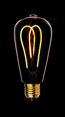 Светодиодная ретро лампа ST64 SF-W LED 5W E27