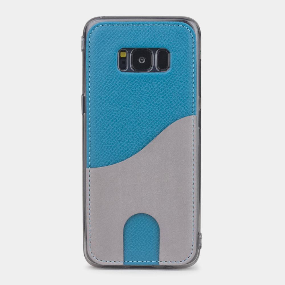 Чехол-накладка Andre для Samsung S8 Plus из натуральной кожи теленка, морского цвета