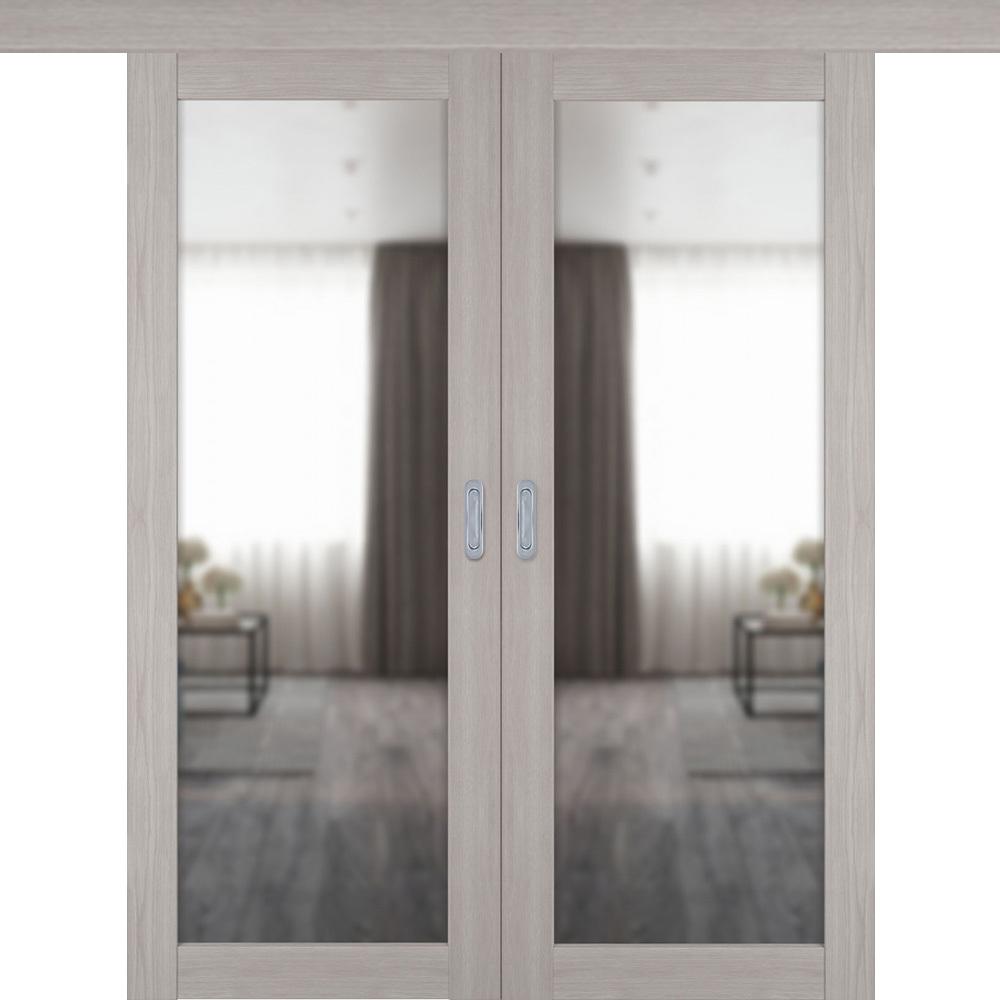 Двери с зеркалом Межкомнатная двустворчатая дверь купе экошпон VFD 32X stone oak с зеркалом с одной стороны atum-pro-x32-stone-mirror.jpg