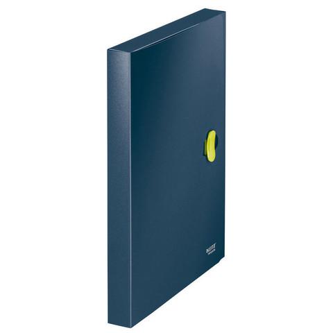 Папка-короб с застежкой Leitz ReCycle А4 пластиковая синяя (0.65 мм, до 300 листов)