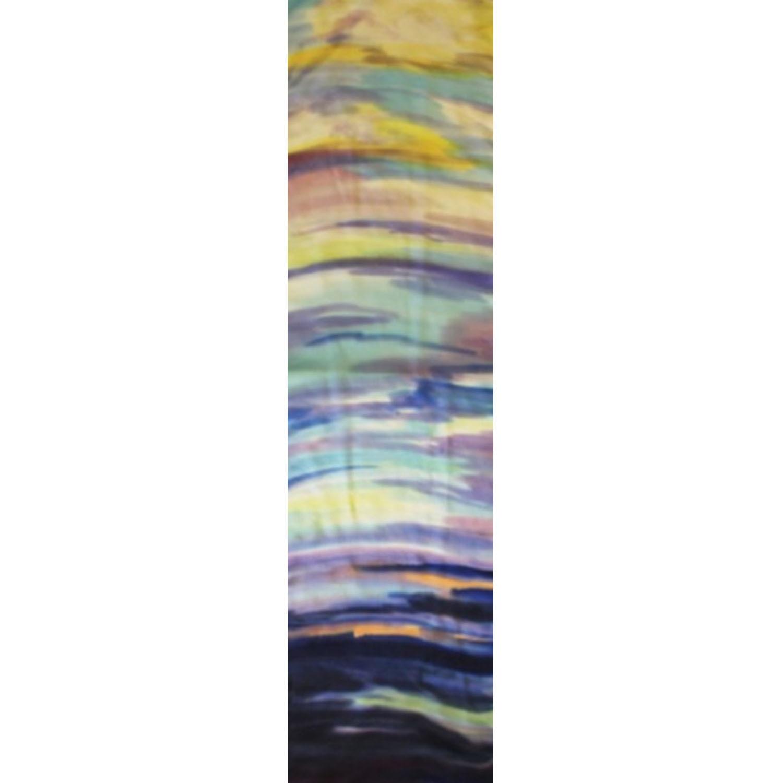 Шелковый шарф батик Море