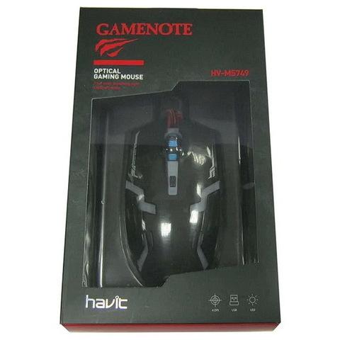 Мышь проводная HAVIT HV-MS749 Gaming USB, black