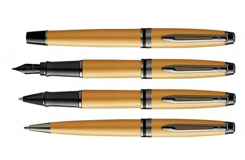 Ручка шариковая Waterman Expert Gold, цвет чернил Mblue123