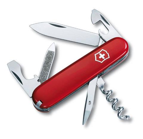Нож перочинный VICTORINOX Sportsman, 84 мм, 12 функций, красный VC-0.3802