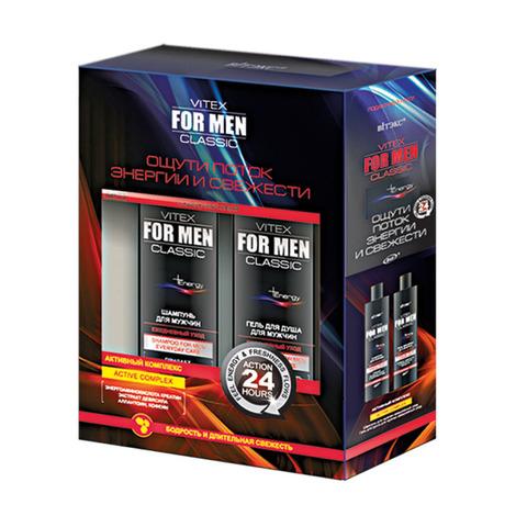 ПОДАРОЧНЫЙ Набор VITEX FOR MEN CLASSIC (2 ед. Шампунь, Гель д/душа)