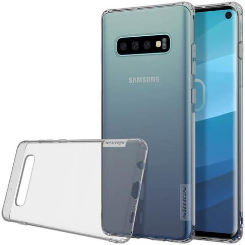 Силиконовый бампер Nillkin Nature TPU Case для Samsung Galaxy S10 (серый)
