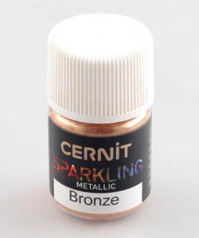 Блестящая пудра (блестки) CERNIT, бронозвый металлик