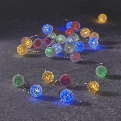 Гирлянда с разноцветными шариками Luca Lighting мультиклор (30 ламп, длина гирлянды 290см)