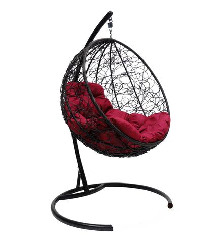 Кресло подвесное Milagro black/burgundy
