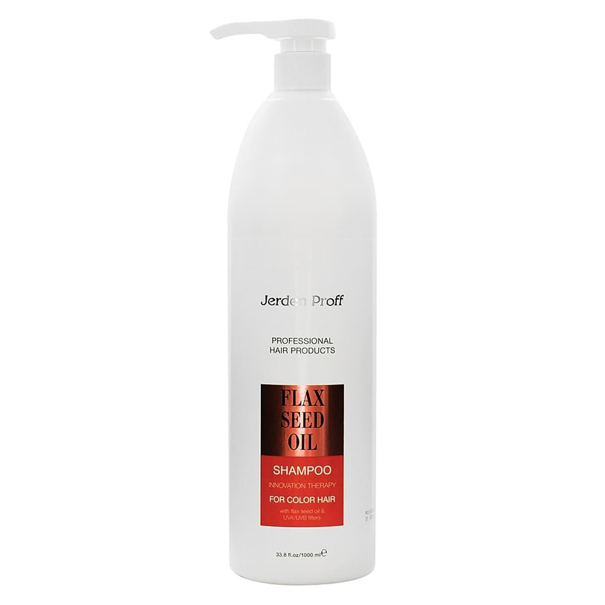 Шампунь для окрашенных волос с маслом льна