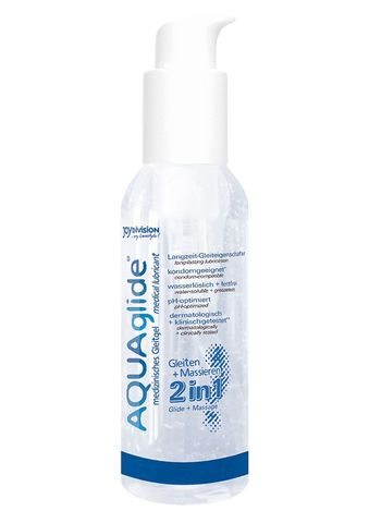 Вагинальная смазка 2-в-1 на водной основе AQUAglide - 125 мл.