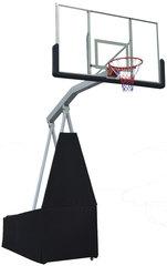 """Баскетбольная мобильная складная стойка со щитом 72"""" (180x105cm) из закаленного стекла, вынос щита 1,5м"""