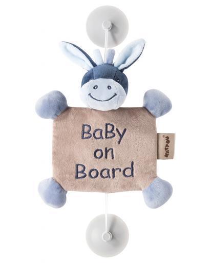 Знак автомобильный Nattou Baby on board Nina