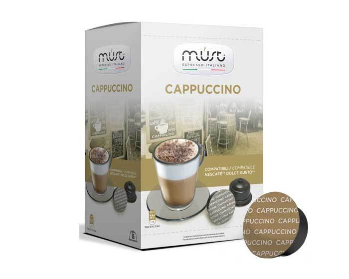 Кофе в капсулах Must Cappuccino, 16 капсул для кофемашин Dolce Gusto